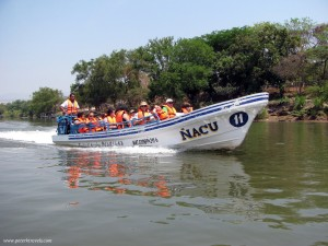 Boat in Cañón del Sumidero