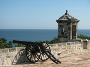 Cannon at Fuerte San Miguel