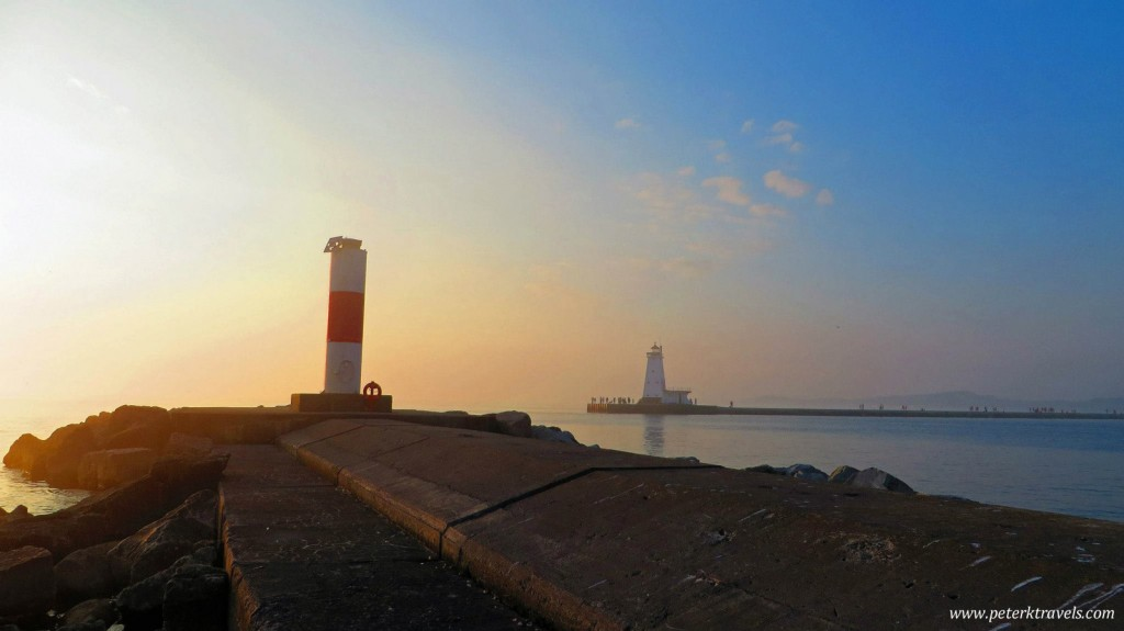 Ludington Light and Breakwater
