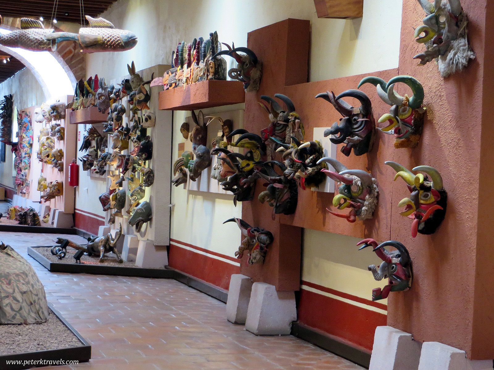 Masks in the Rafael Coronel Museum