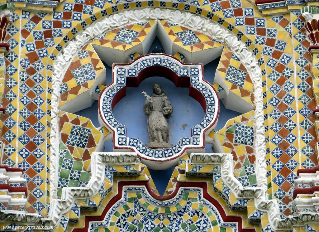Detail of The Church of San Francisco Acatepec