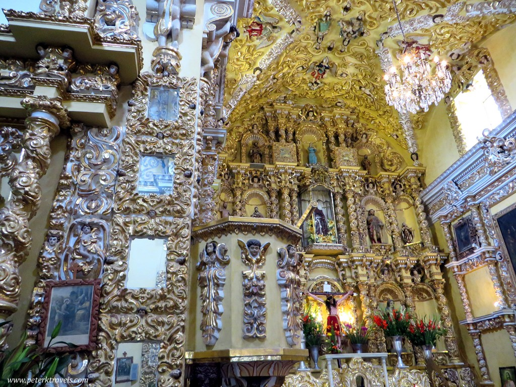 Interior of the Church of San Francisco Acatepec