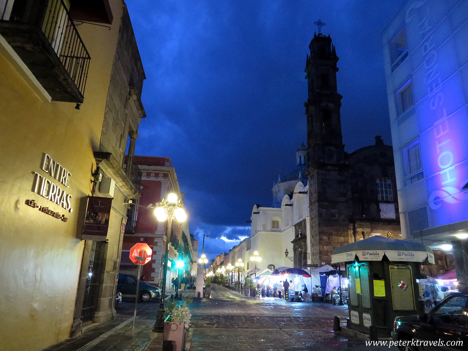 Street View With Templo de San Cristobal