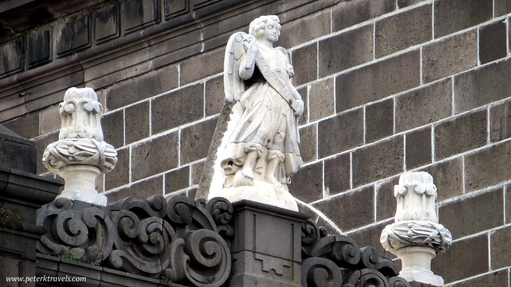 Exterior detail, Puebla Cathedral