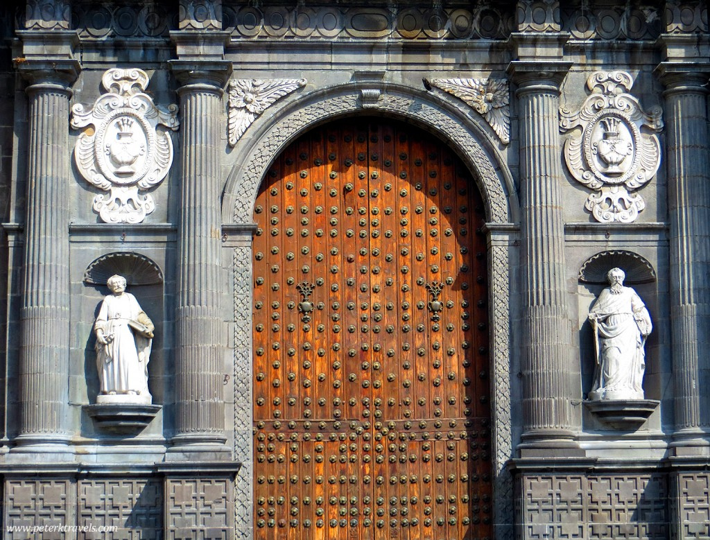 Puebla Cathedral Door