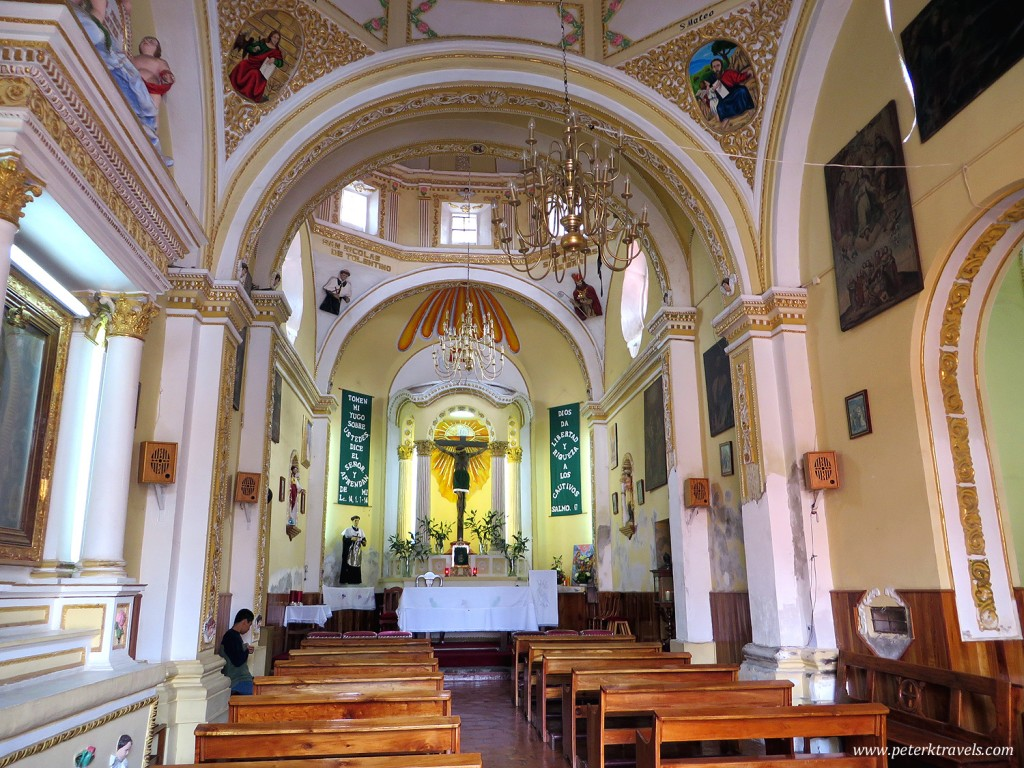 Interior of Capilla San Nicolas