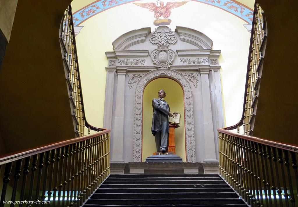 Benito Juarez Statue Inside Ex-Legislative Palace, Tlaxcala