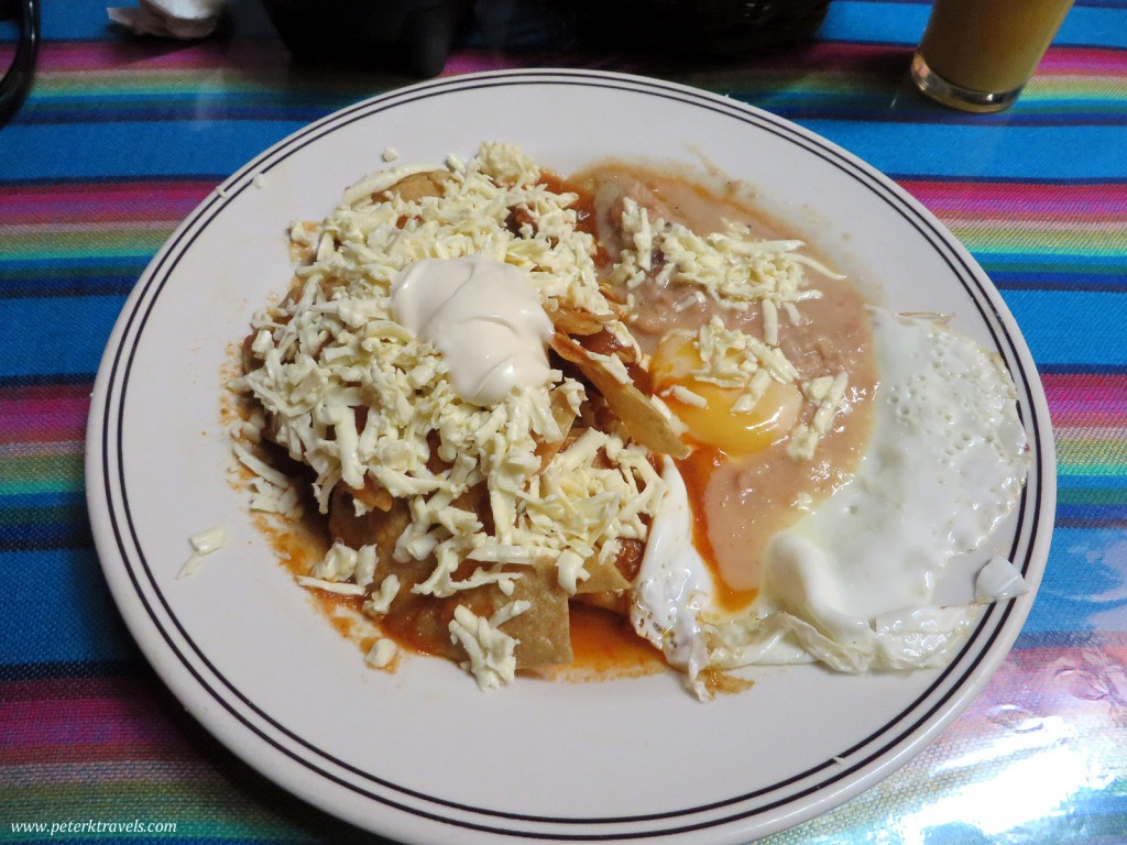 Chilaquiles in Queretaro.