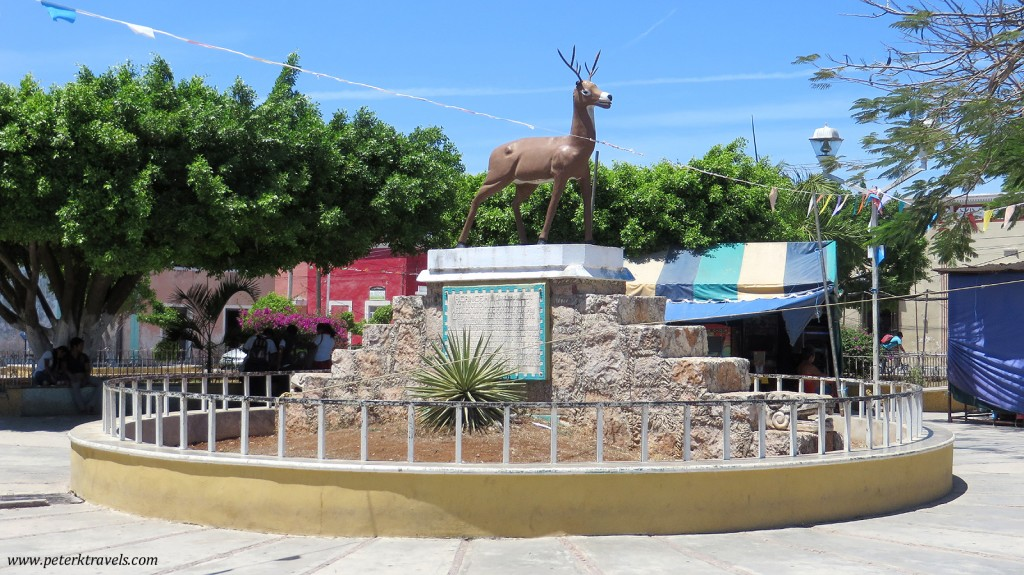 Deer fountain in Acanceh