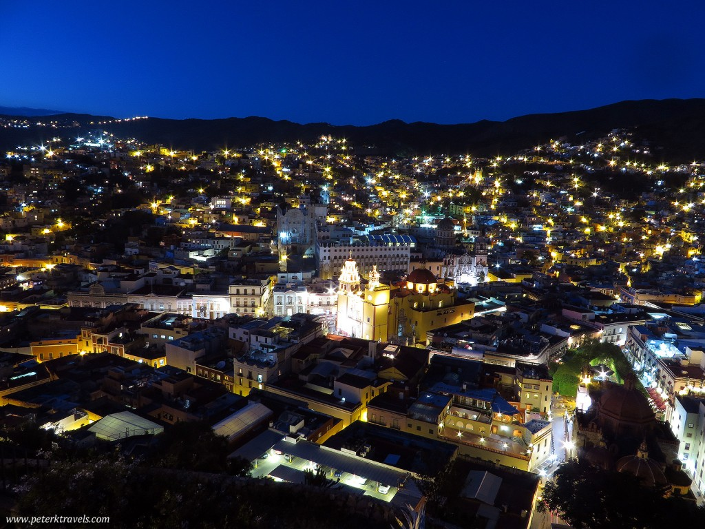 Night view of Guanajuato from El Pipila