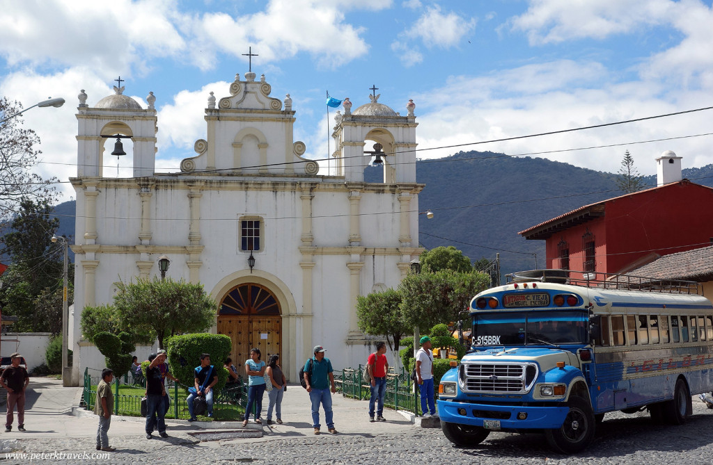 Church and Bus, Antigua Guatemala