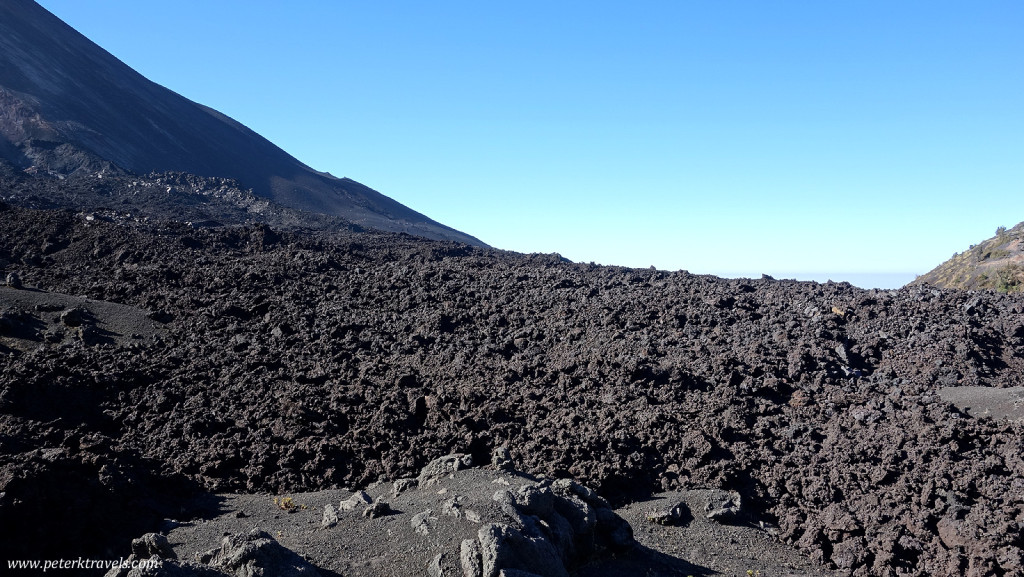 Lava field on Pacaya.