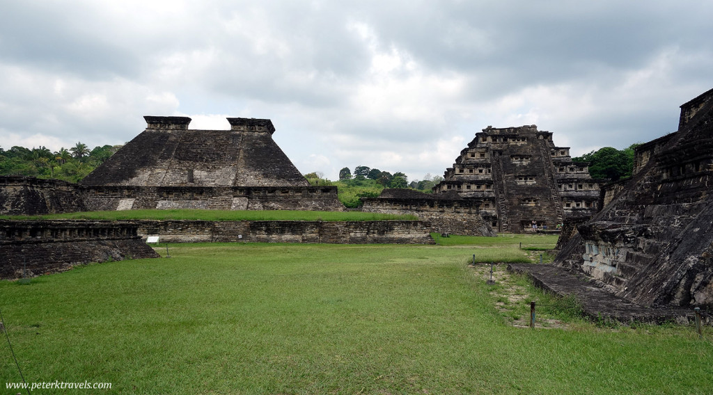 Building 5 on the left, Pyramid of the Niches on the right
