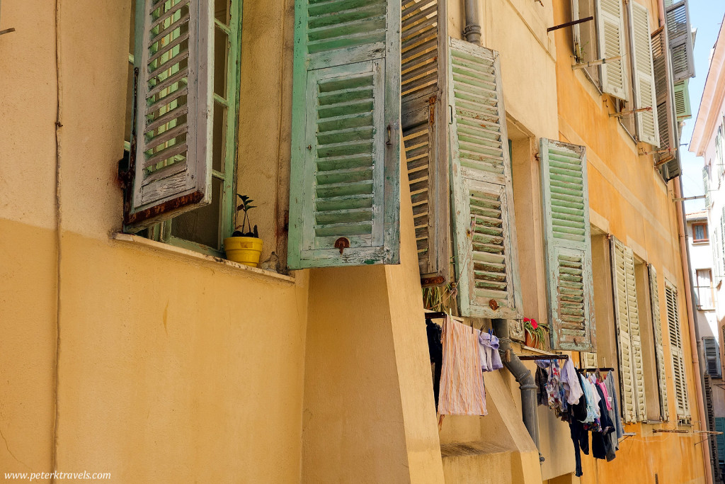 Shutters and Laundry, Old Nice