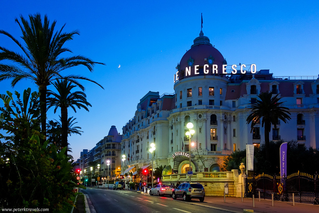 Hotel Le Negresco at Twilight