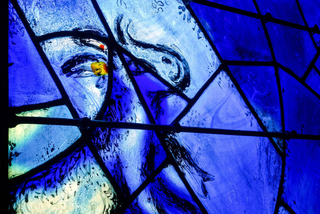Detail from stained glass window.