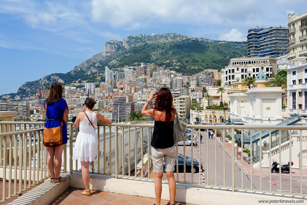 Tourists take photos in Monaco