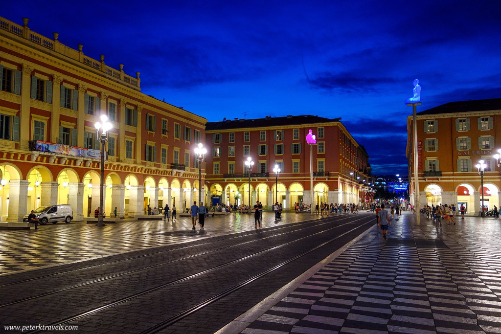 Place Massena at Dusk