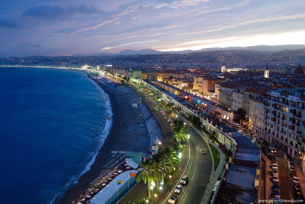 View of Nice at Dusk