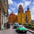 Basilica and Cab, Guanajuato