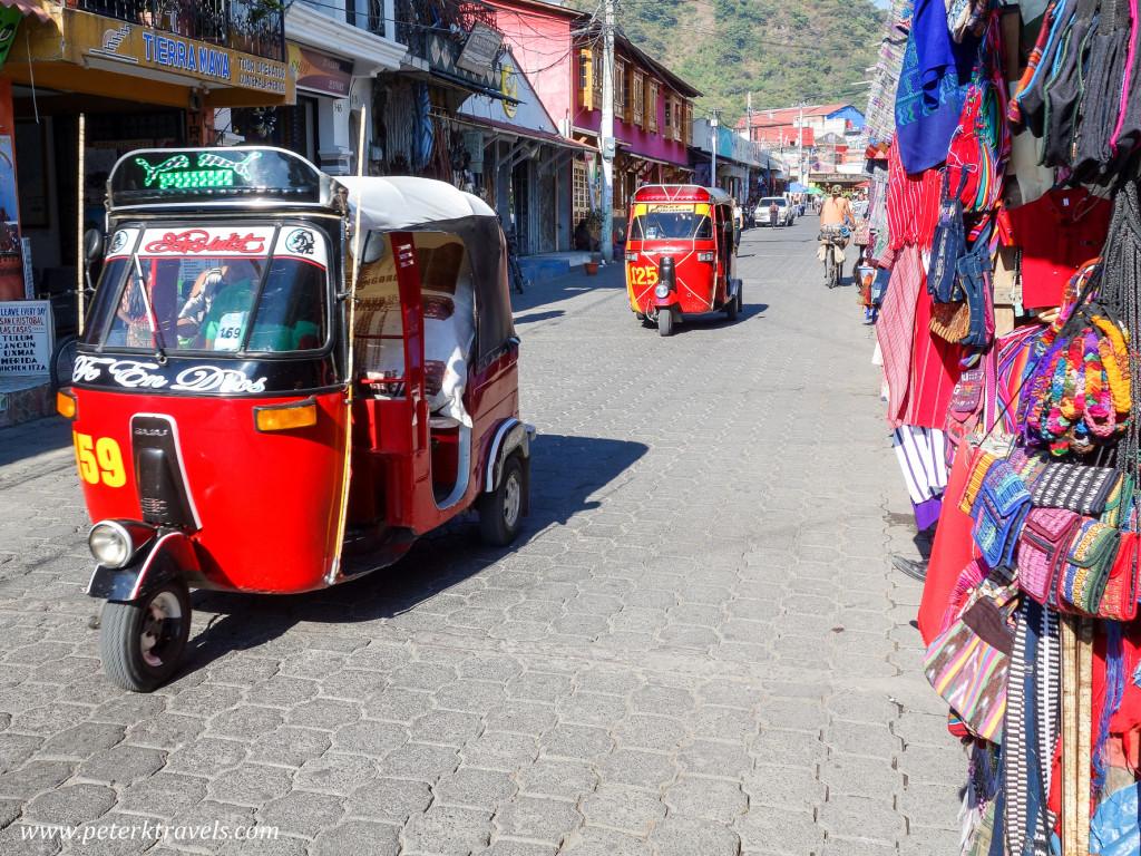 Tuk-tuks, Panajachel, Guatemala