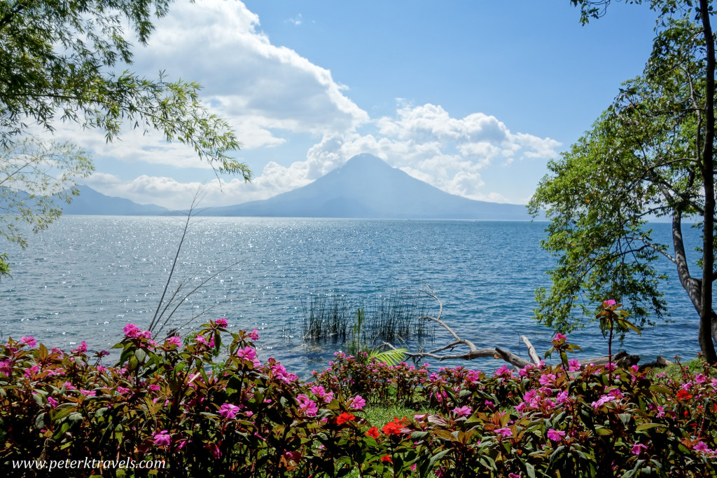 Lake Atitlan and Volcan Toliman, Guatemala