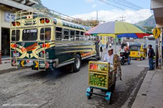 Busy street, Panajachel, Guatemala