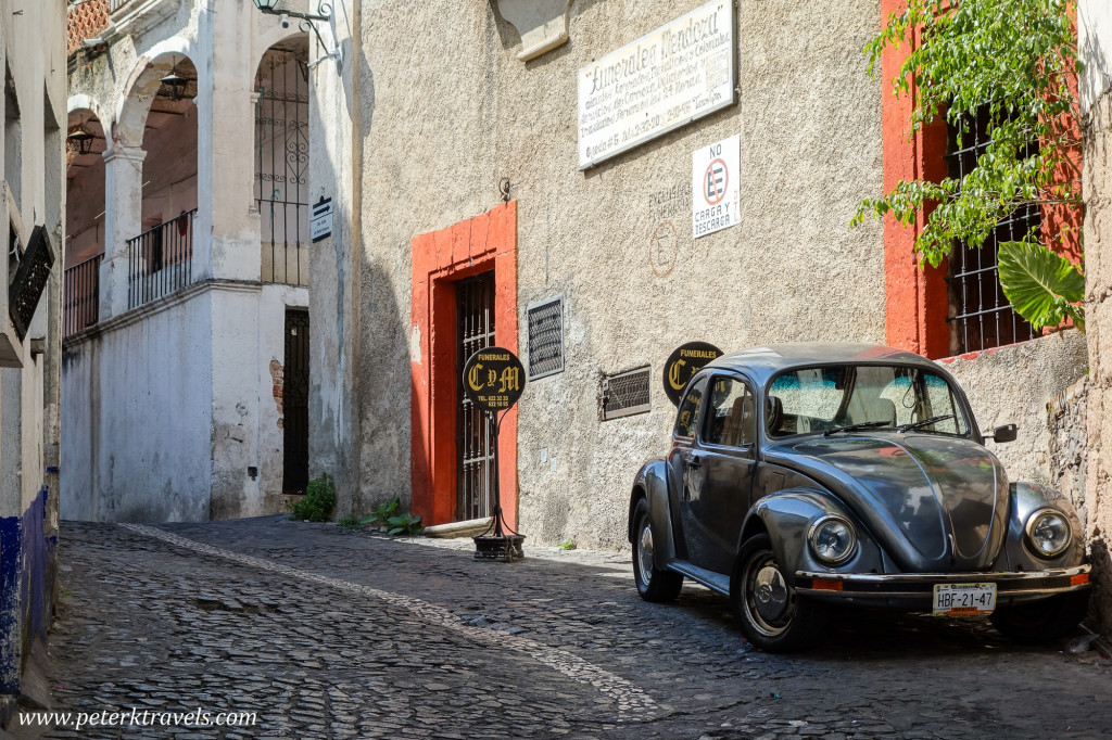 Black Volkswagen Beetle, Taxco.