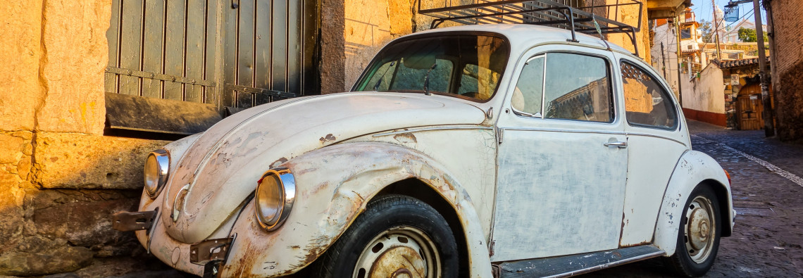 Beat-up Beetle, Taxco.