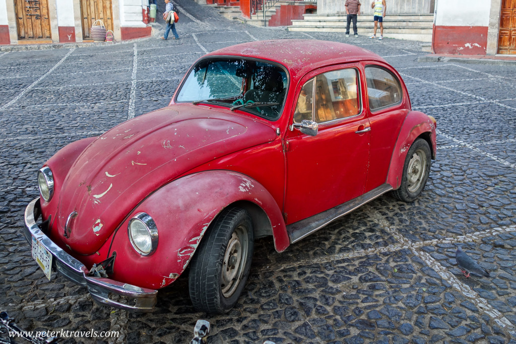 Red Volkswagen Beetle, Taxco.