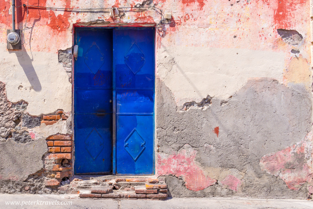 Blue door, Atlixco.