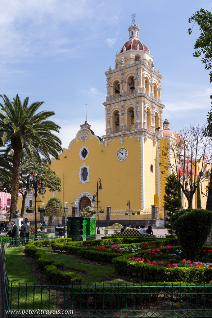 Church on main square, Atlixco.