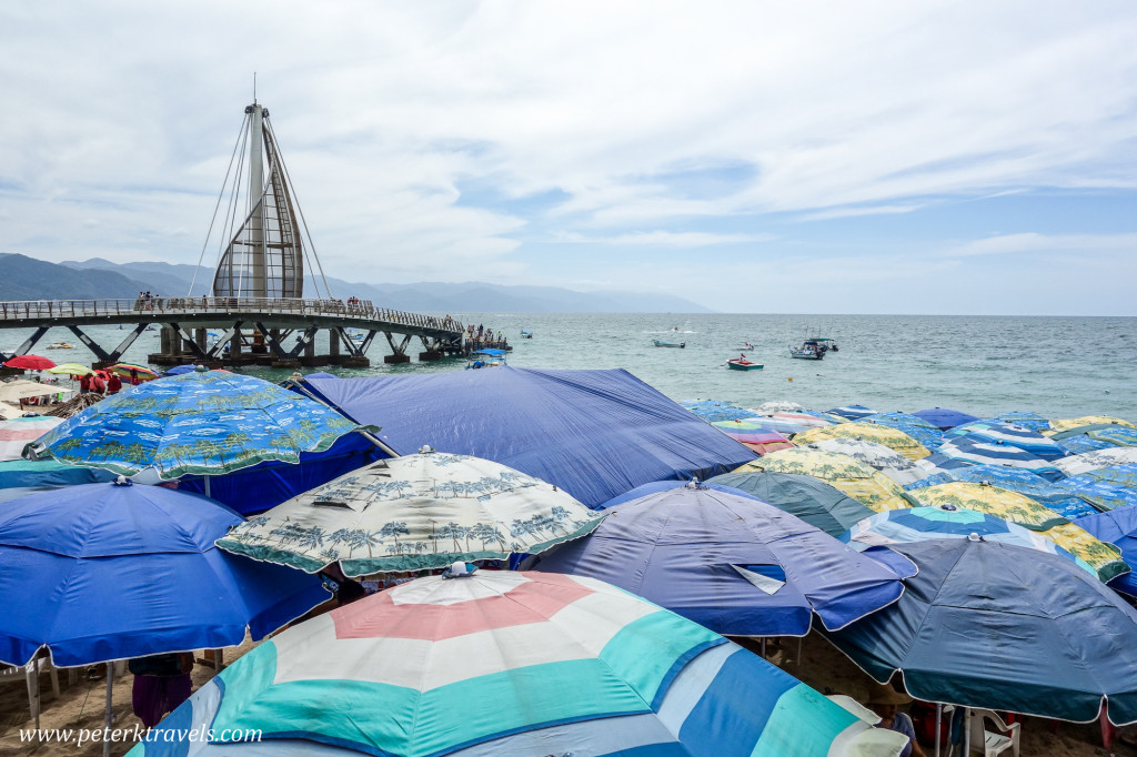 Pier and Umbrellas, Puerto Vallarta