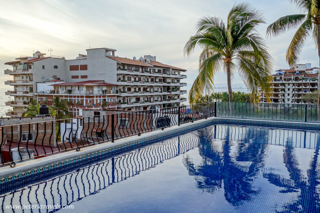 Rooftop Pool Reflections, Puerto Vallarta