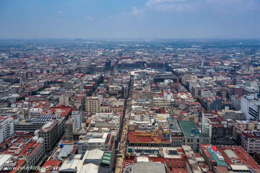 View from Torre Latinoamerica, Mexico City