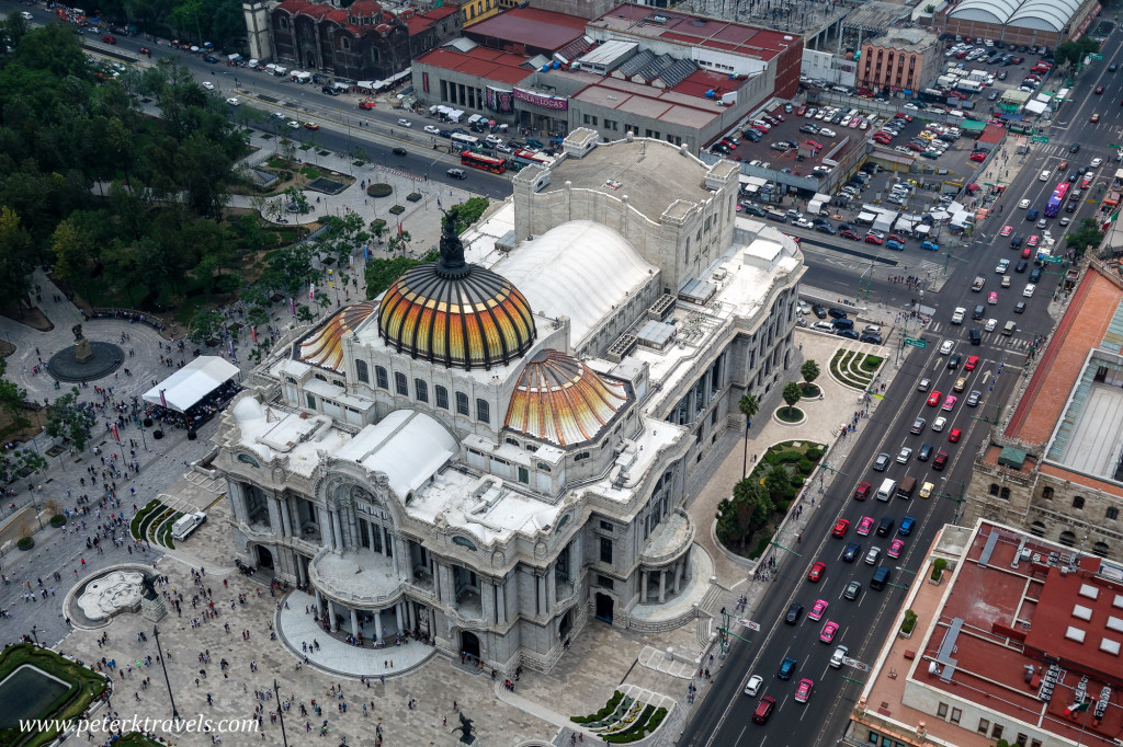 View of Palacio de Bellas Artes from Torre Latinoamerica, Mexico City