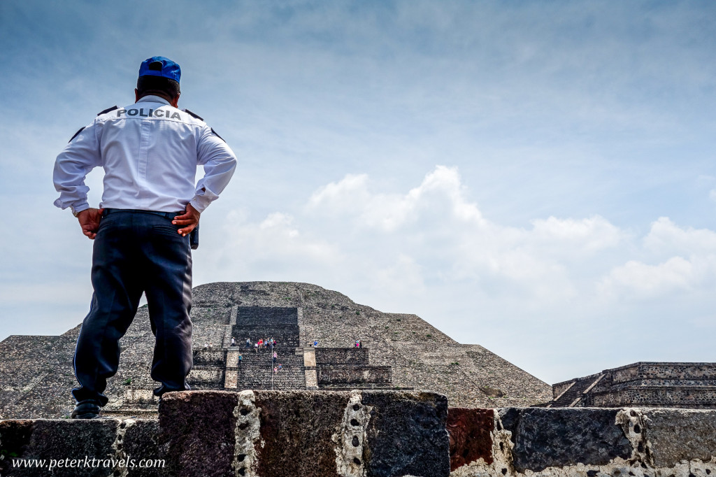 Guarding the Pyramid of the Moon, Teotihuacan.