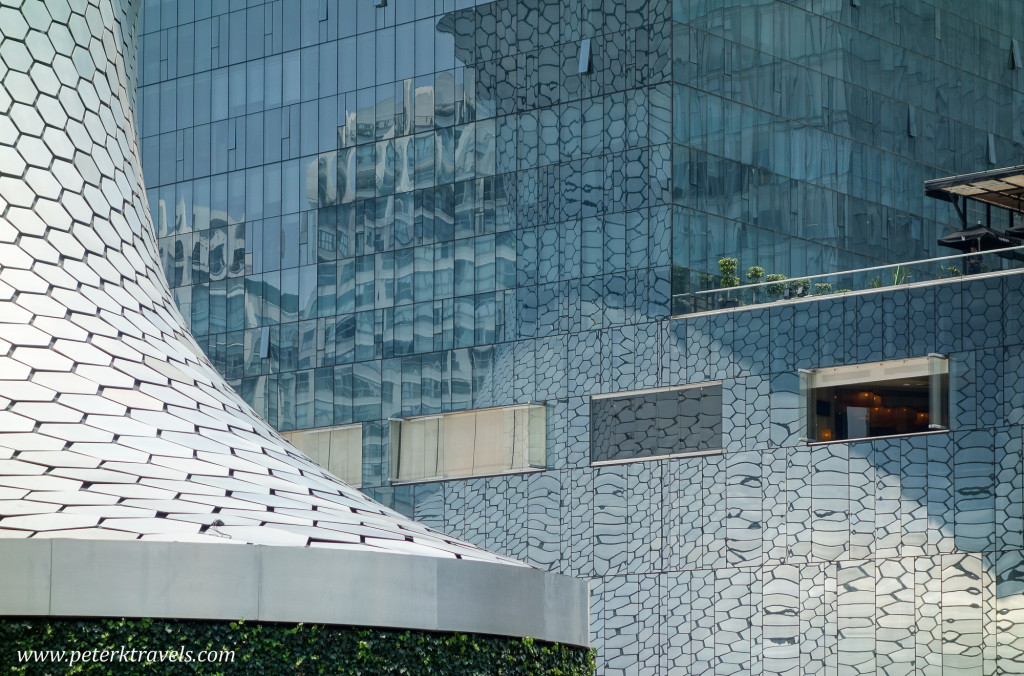 Museo Soumaya reflections, Mexico City