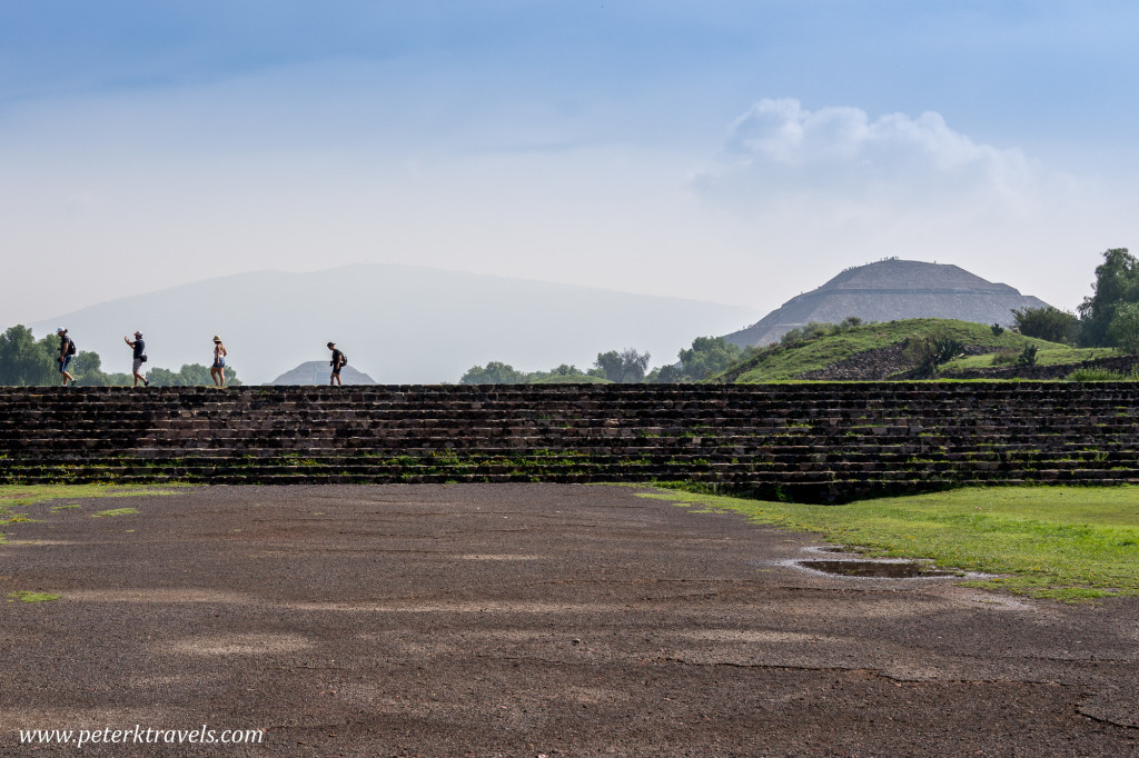 Tourists and Pyramids, Teotihuacan.