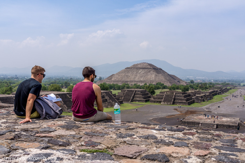 View of Pyramid of the Sun from Pyramid of the Moon, Teotihuacan.