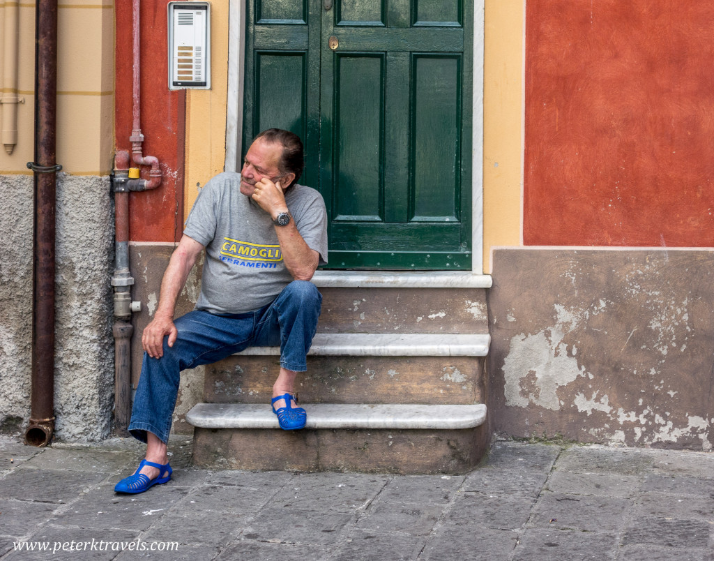 Taking a break in Camogli