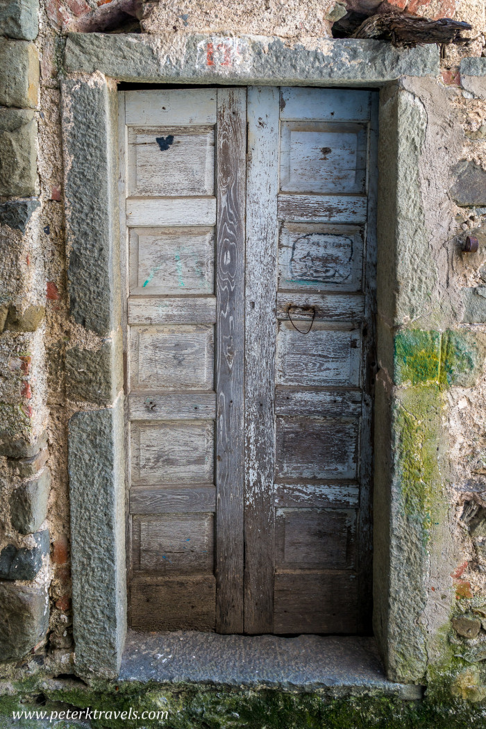 Weathered door in Corniglia, Italy.