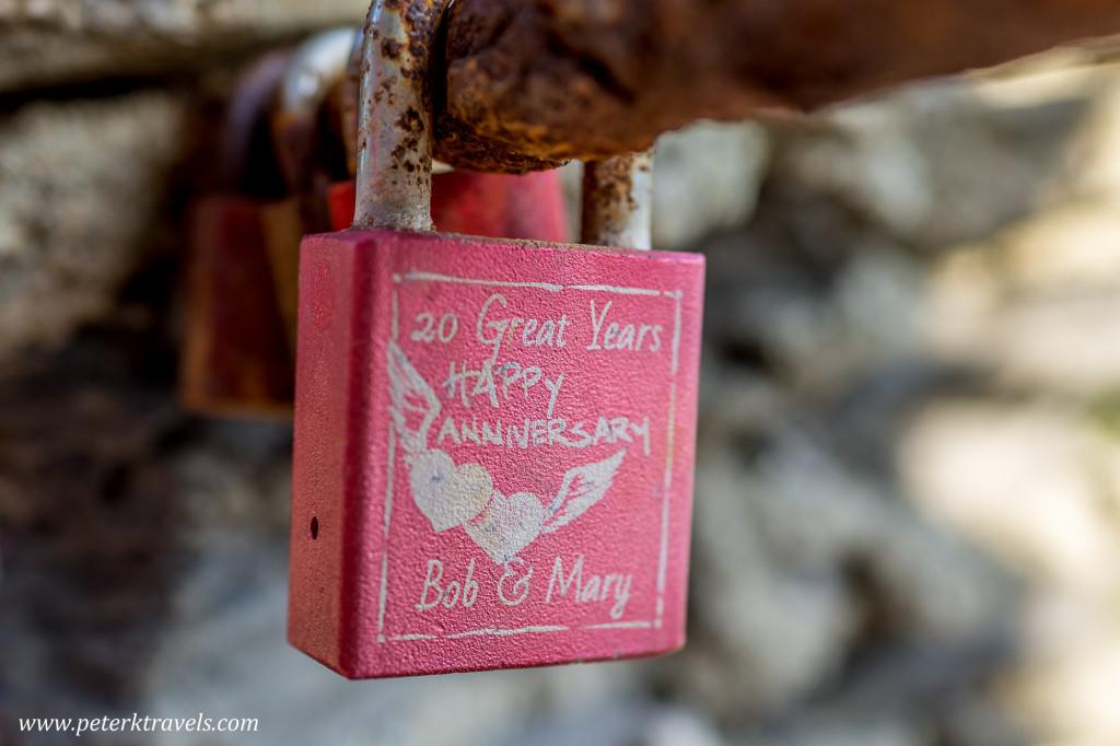 Anniversary Lock, Monterosso al Mare, Italy