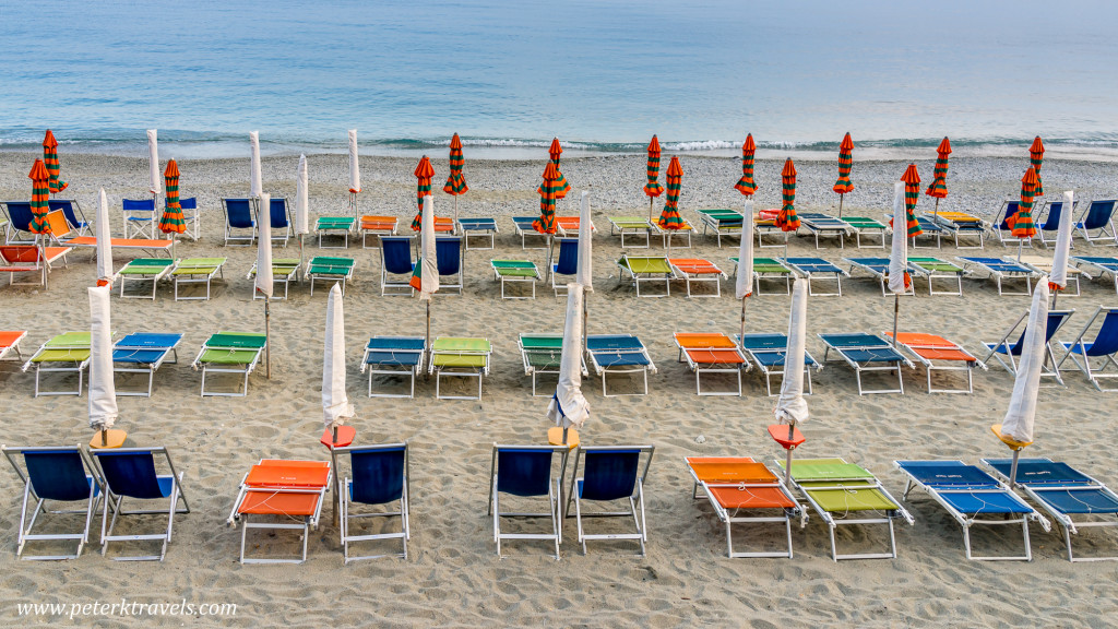 Umbrellas and Chairs, Monterosso al Mare, Italy