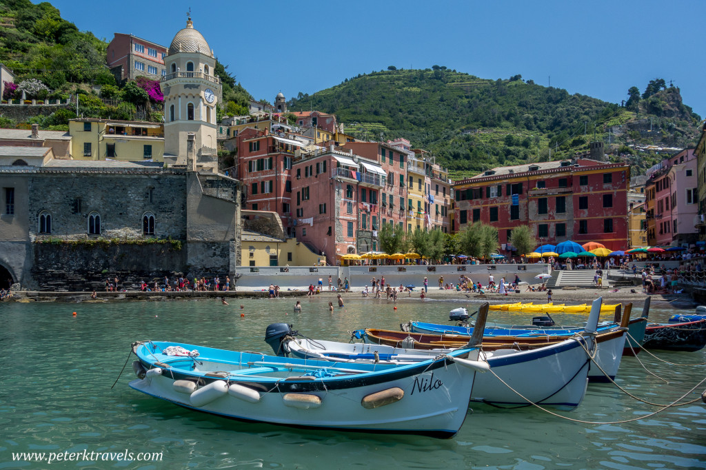 Harbor in Vernazza, Italy.
