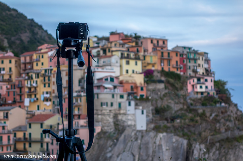 Taking a photo of Manarola