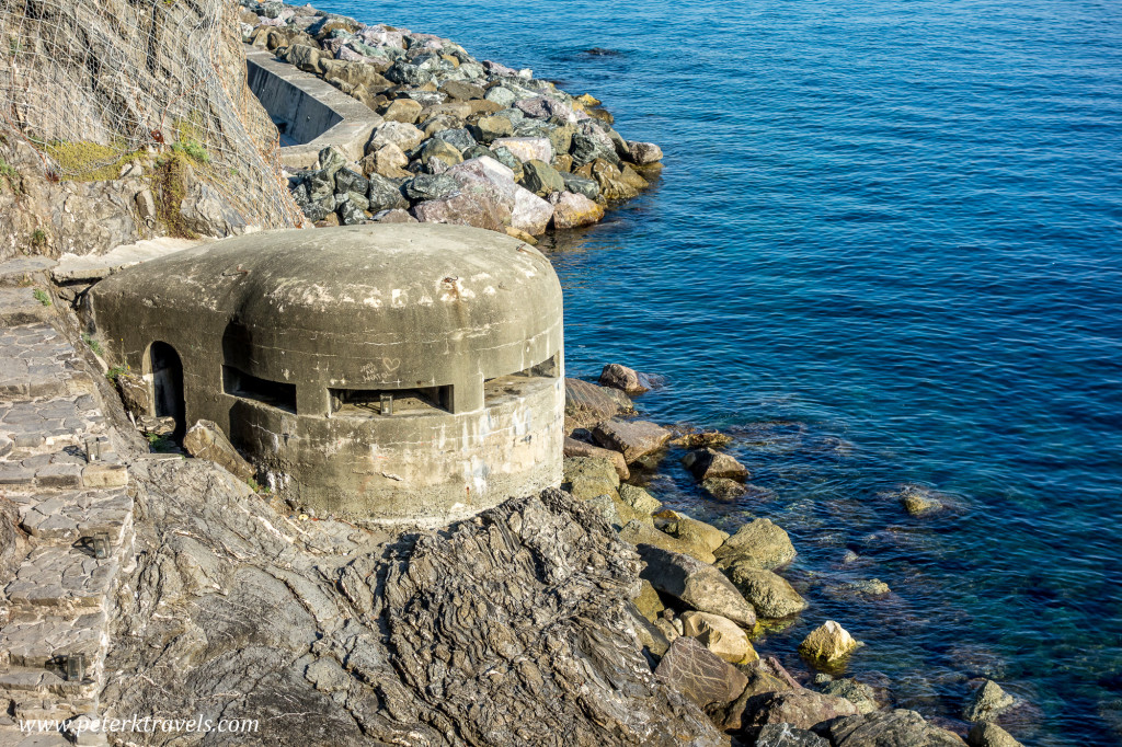 German Pillbox, Monterosso al Mare, Italy