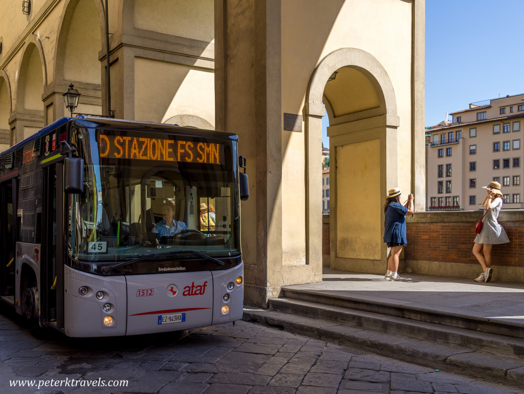 Bus and tourists, Florence