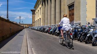 Cyclist, Florence.