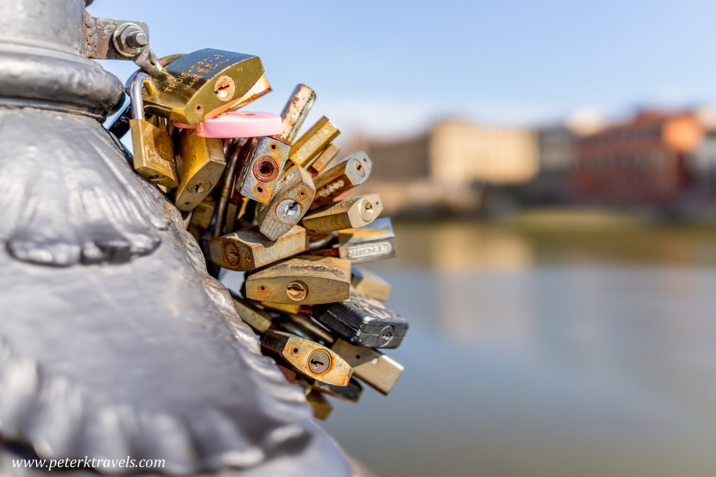 Locks along the Arno river, Florence.